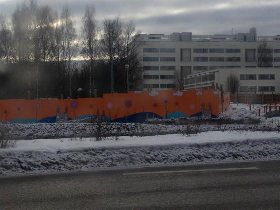 フィンランドのトトロ風の絵