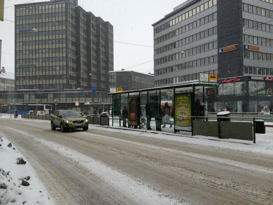 ヘルシンキは大雪です。