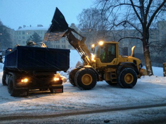 ヘルシンキの除雪作業