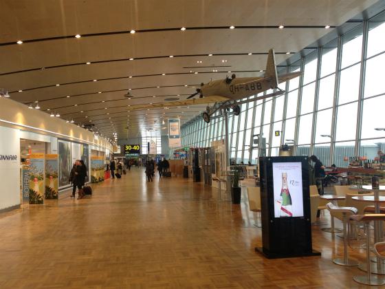 がらんとしたヴァンター空港