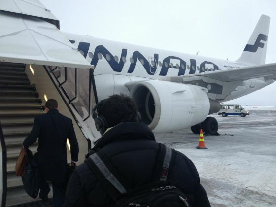 ヘルシンキ→ストックホルムの飛行機