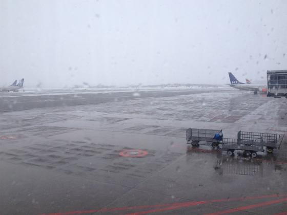 アーランダ空港に到着