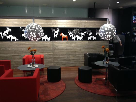 アーランダ空港のカフェ