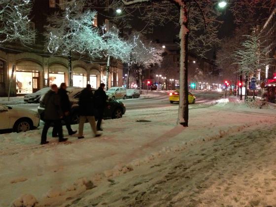 雪のストックホルム