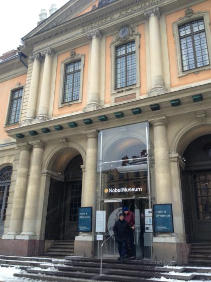 ガムラスタンにあるノーベル博物館です。