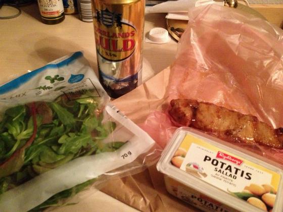 スウェーデン3日目の夕食