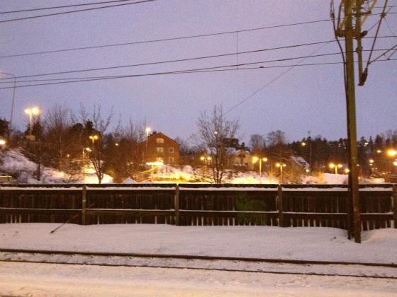 ストックホルムの電車から見える景色