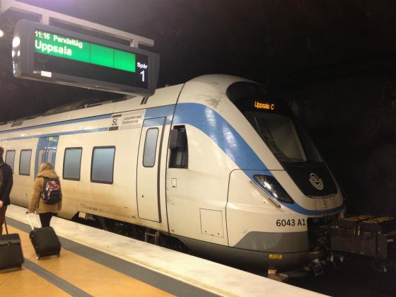 アーランダ駅に到着。