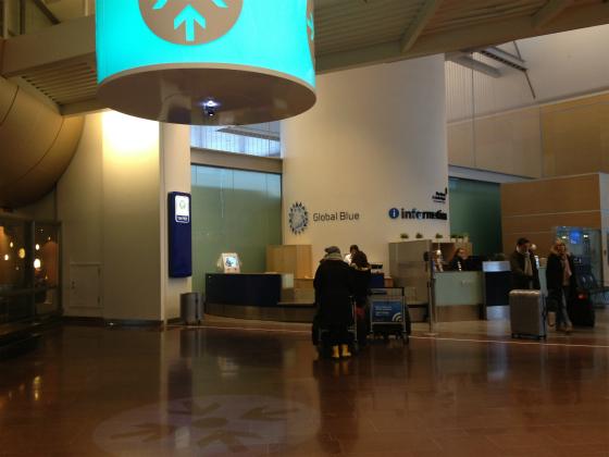 アーランダ空港のグローバルブルーカウンター