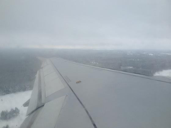 アーランダ空港を出発
