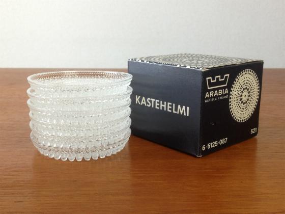 Kastehelmi/カステヘルミ プレート8.5cm クリア 6個セット(箱付き) 001