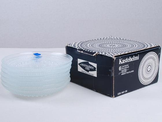 Kastehelmi/カステヘルミ プレート14cm クリア 6個セット(箱付き) 001