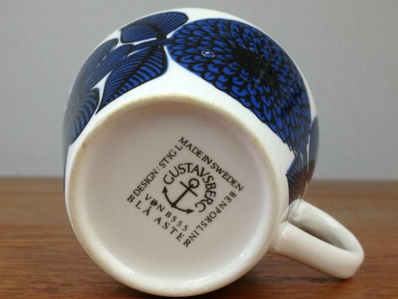GUSTAVSBERG/グスタフスベリ Blue Aster/ブルーアスター コーヒーカップ&ソーサー 001