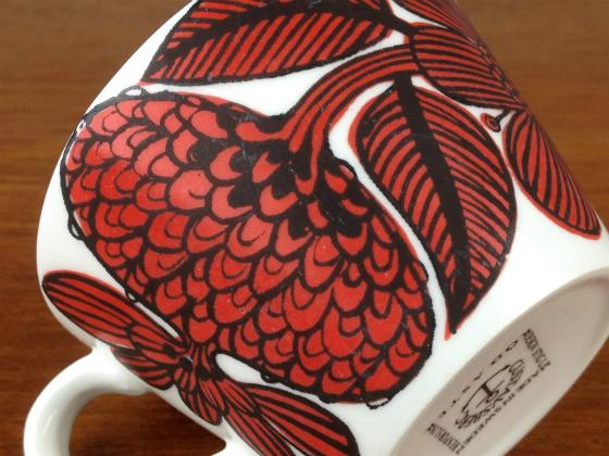 GUSTAVSBERG/グスタフスベリ Red Aster/レッドアスター コーヒーカップ&ソーサー 003