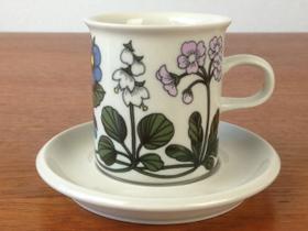 ARABIA/アラビア Flora/フローラ コーヒーカップ&ソーサー