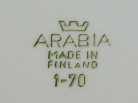 ARABIA/アラビア Tytti/テュッティのバックスタンプ