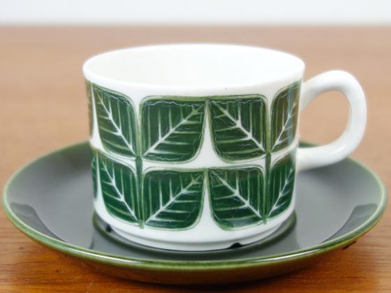 Gefle/ゲフレ Blad/ブラード コーヒーカップ&ソーサー グリーン