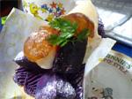 紫いもと季節のフルーツタルト