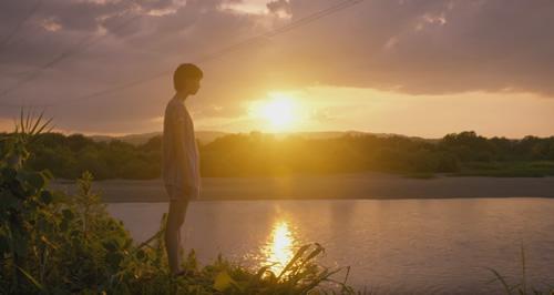 北海道写真ブログ 田舎の夕日の淡い季節と