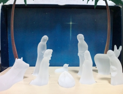Crystal Nativity Set