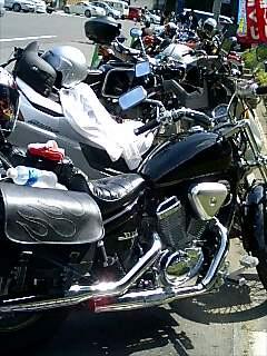 すごいバイクの列!!!