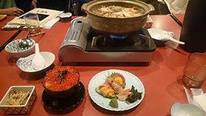 函館の夕食海鮮鍋