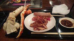 札幌でやっとカニ