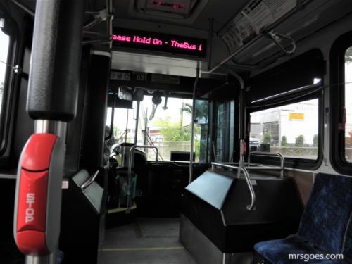 52番バスの中