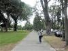 カラカウア通りに沿った歩道