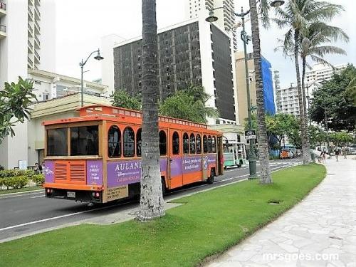 アウラニ・リゾートのバス?