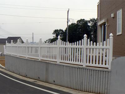 バイナルフェンス施工例