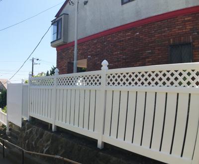 バイナルフェンスの施工例