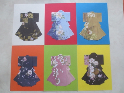 ハート 折り紙 折り紙 着物の折り方 : ohana-daisuki.jugem.jp