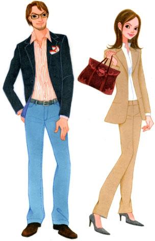 ファッションイラスト/CUT挿絵/マスコミ系
