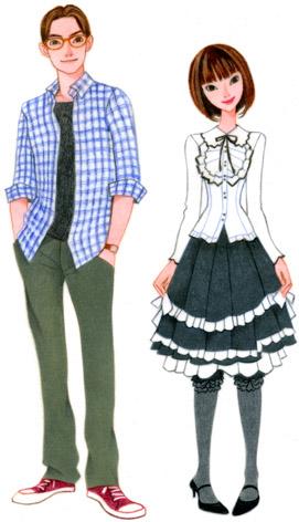 ファッションイラスト/噂のカップル