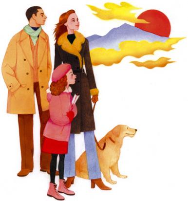 06家族と日の出