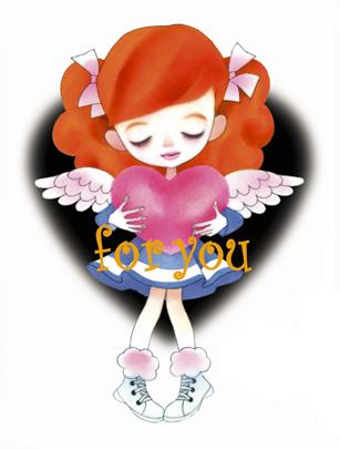 天使のハート/キャラクターイラスト/女の子人物