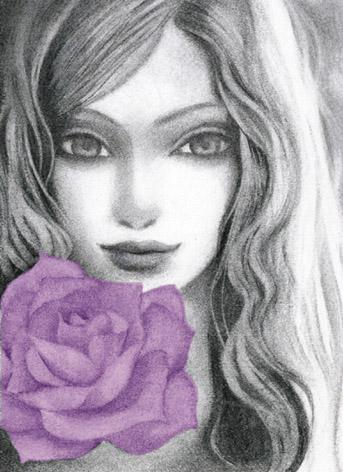 紫バラの女