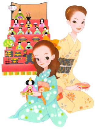 桃の節句/ひな祭りイラスト