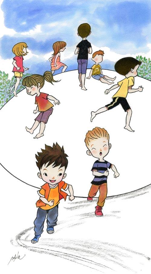 公園の子どもイラスト mako