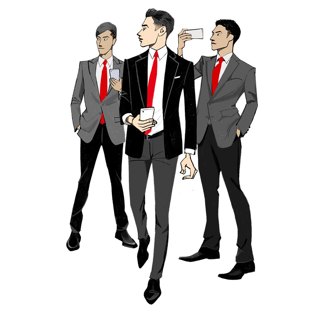 iPad、Procreate、イラスト、ビジネスマン