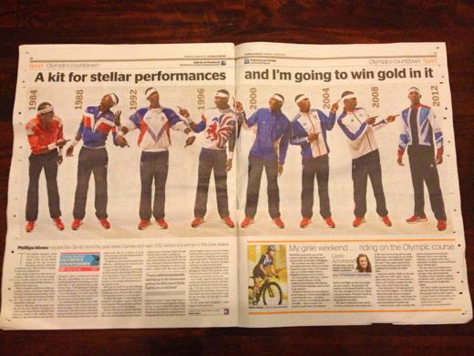 イギリスのオリンピック ユニホームの歴史