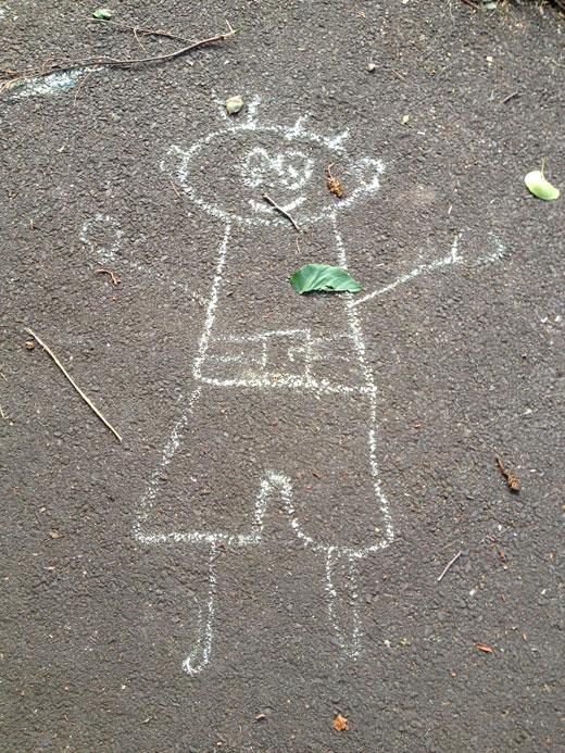 ロンドン,子供,落書き