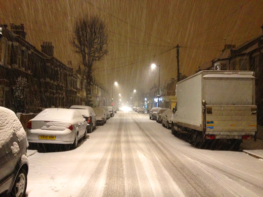 heavy snow in London