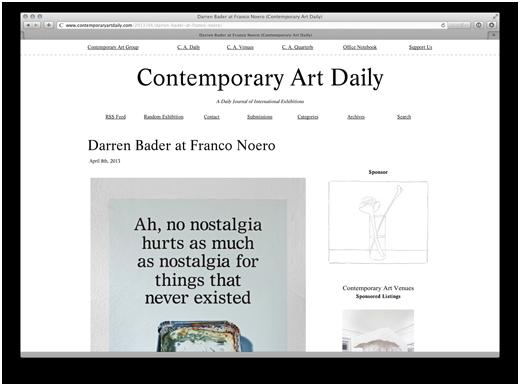 Darren Bader at Franco Noero (Contemporary Art Daily)