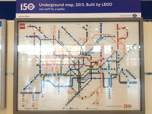 Lego Tube map to celebrate 150 years of London Underground