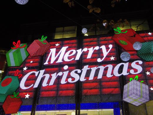 Christmas illumination, Oxford Circus, クリスマス・イルミネーション, オックスフォード・サーカス