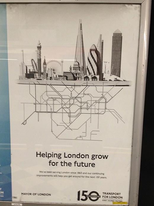 nice posters of Transport for London, ロンドン交通局のかっこいいポスター
