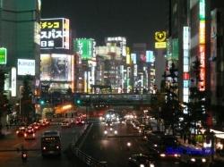 青梅街道西新宿夜景3