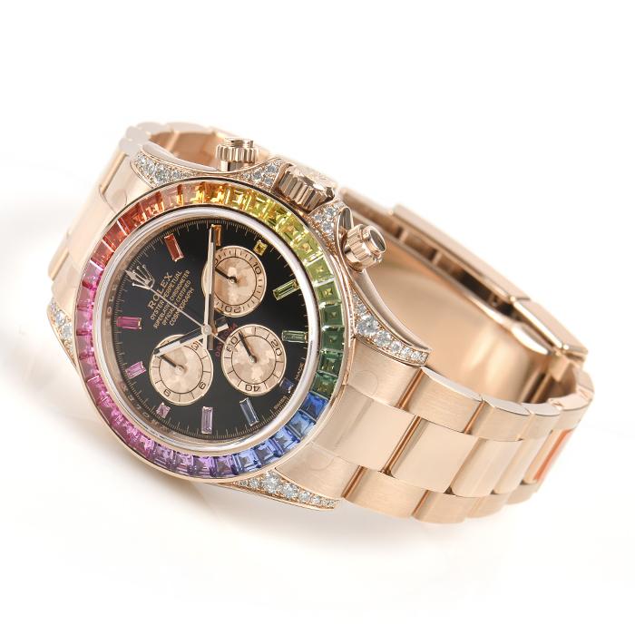 614ecc8e74 4月16日にロンドンでサザビーズの時計オークションでは、ロレックスレインボーサークルデイトナ永遠のローズゴールドウォッチ116595RBOWは237,500ポンド(約2.07万元)  ...